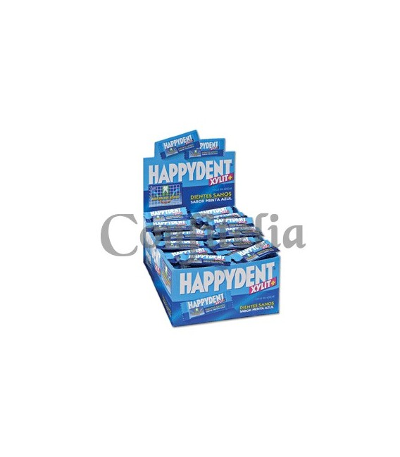 Chicle Happydent menta azul sin azúcar