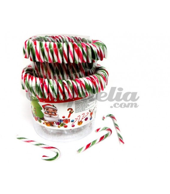 Tricolour candy canes 12 grs