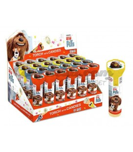 Pets torch with candies