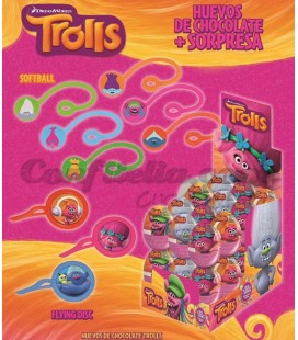 Trolls chocolate eggs