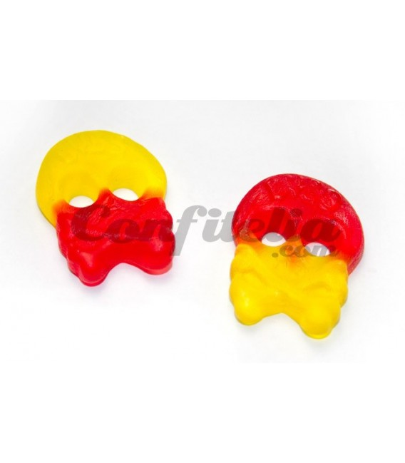 Peach Skulls gummy candy