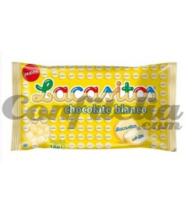 White chocolate dragees Lacasitos