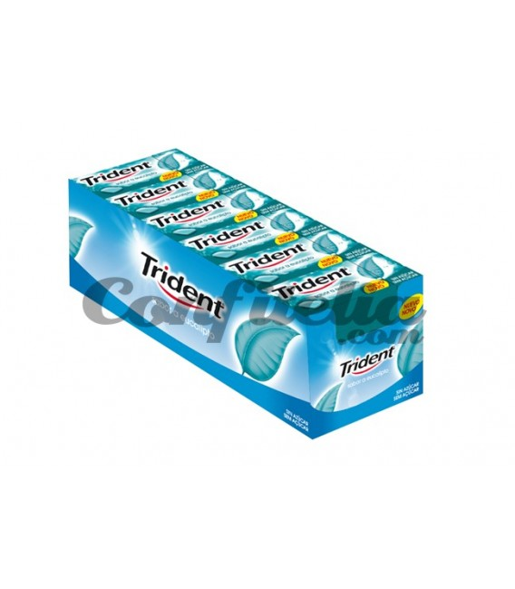 Chewing gum Trident dragee eucalyptus without sugar