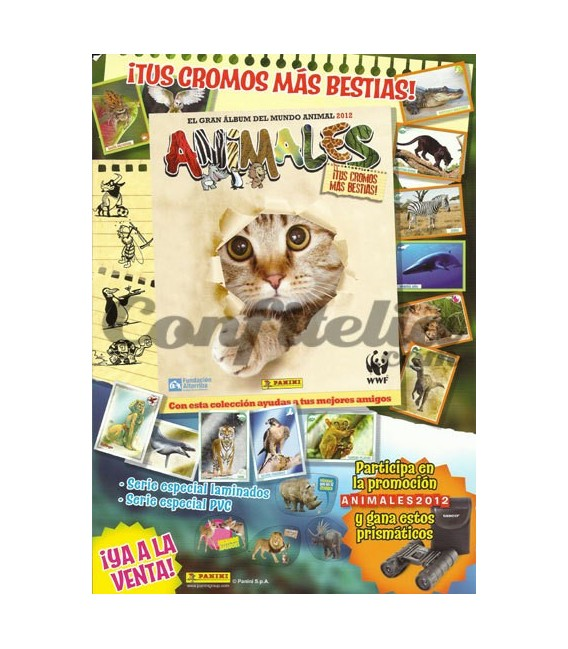 Animals stickers collection of Panini