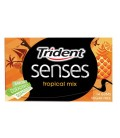 Chicle Trident Senses tropical mix sin azúcar