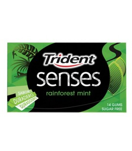 Chicle Trident Senses Rain Forest mint sin azúcar