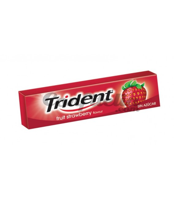 Chicle Trident stick fresa sin azucar