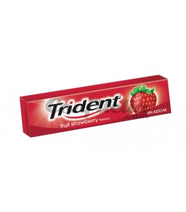 Chewing gum Trident stick strawberry sugarfree