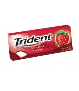 Chewing gum Trident dagrees strawberry sugarfree