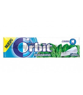 Chicle Orbit lamina hierbabuena