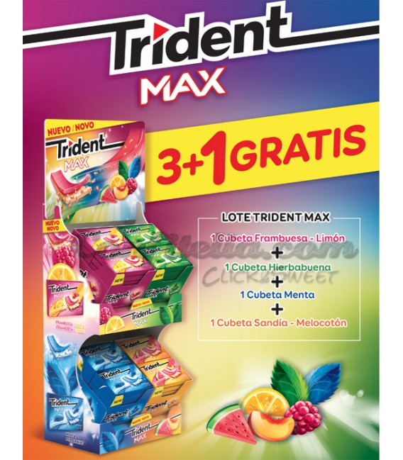 Pack lanzamiento Chicle Trident Max II
