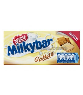 Tableta Milkybar con galleta 100 grs.