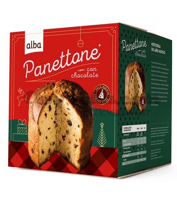 Panettone with chocolate Alba