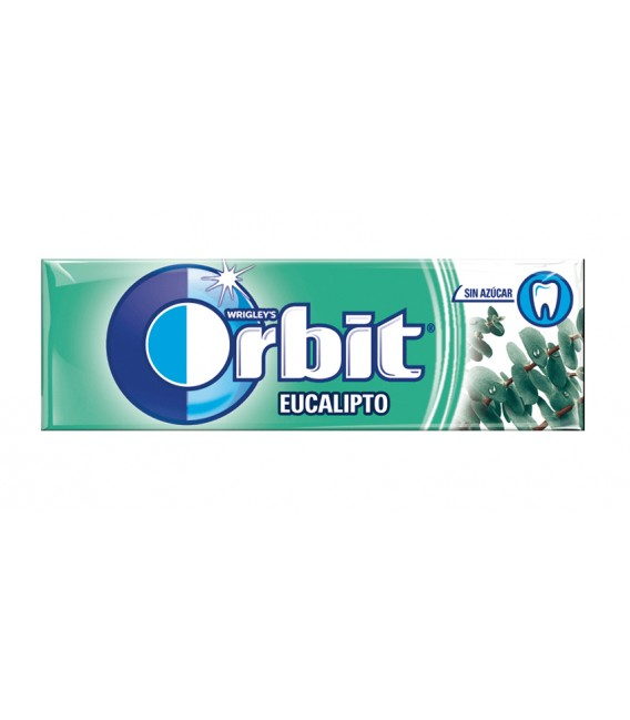 Chicle Orbit gragea eucalipto sin azucar