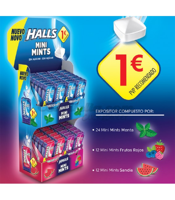 Pack Lanzamiento Halls Mini Mints