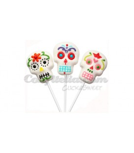 Mexican Skull marshmallow pop