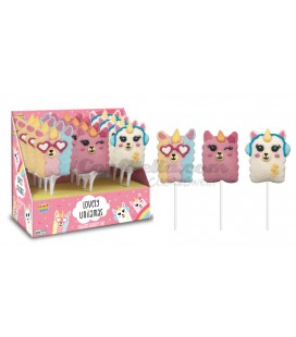 Lovely Unilamas marshmallow skewers