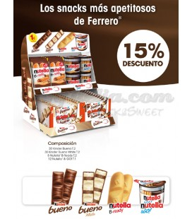 Pack de snacks surtidos Kinder