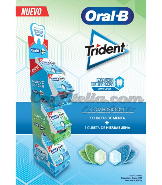 Pack Lanzamiento chicle Trident Oral B