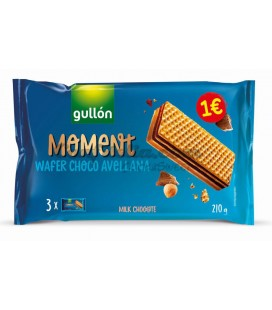 Galletas Moment Waffer Gullon 210 g