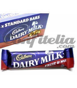 Dairy milk Fruit&nut chocolate bars Cadbury