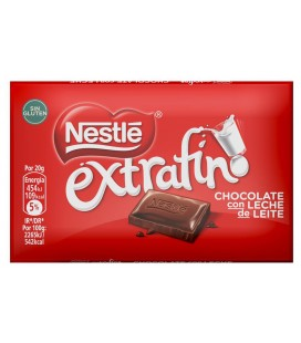 Nestle Extrafine chocolate bars 20 g