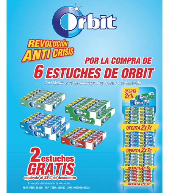 Lote ahorro chicles Orbit