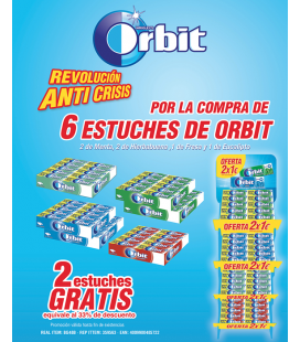 Orbit chewing gums offer pack