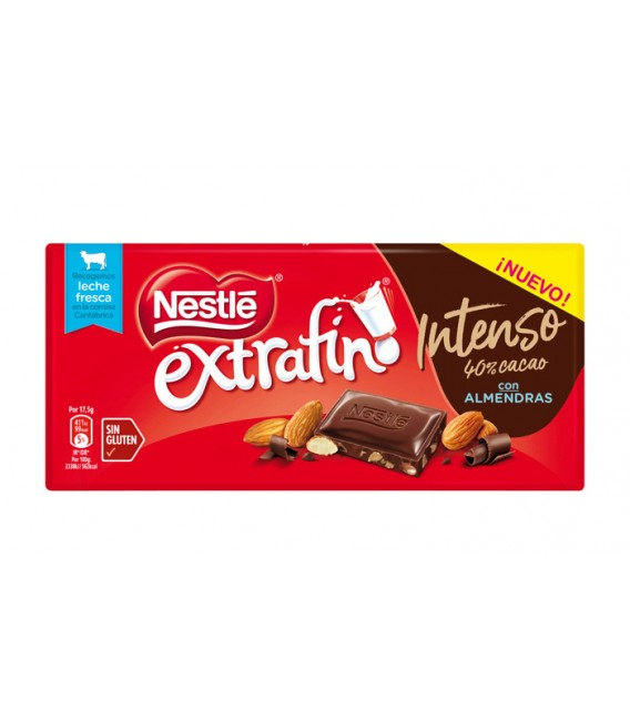 Intense chocolate with Almonds Nestle bars