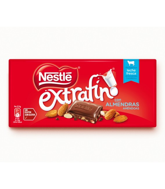 Chocolate with almonds Nestle
