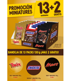 Pack de chocolates Mars Miniatures
