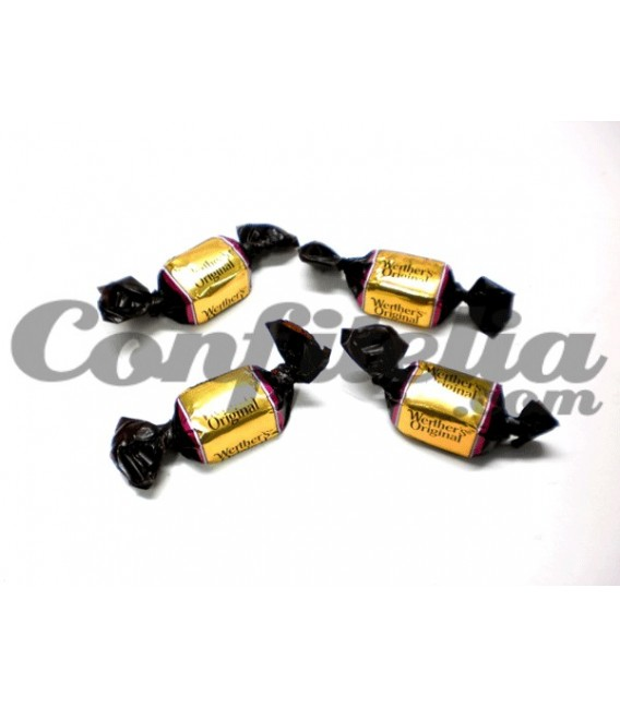 Werther's candy with chocolate bulk
