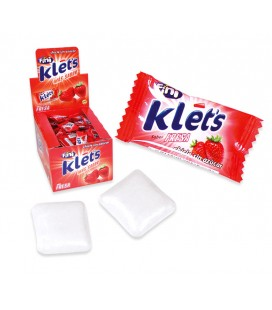 Klets strawberry sugarfree chewing gum