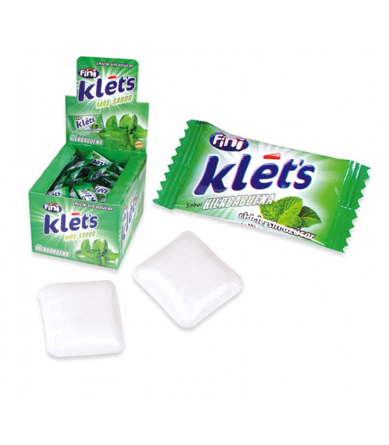 Klets spearmint sugarfree chewing gum