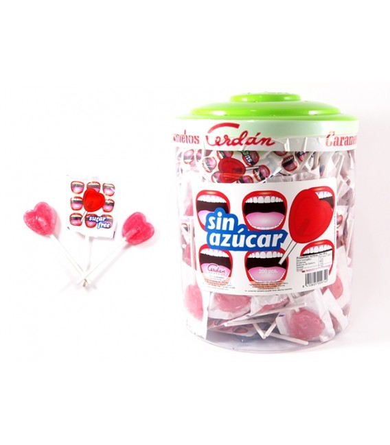 Sugarfree Hearts Lollipops