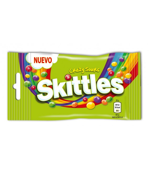 Candy Skittles Crazy sour 38 grs.