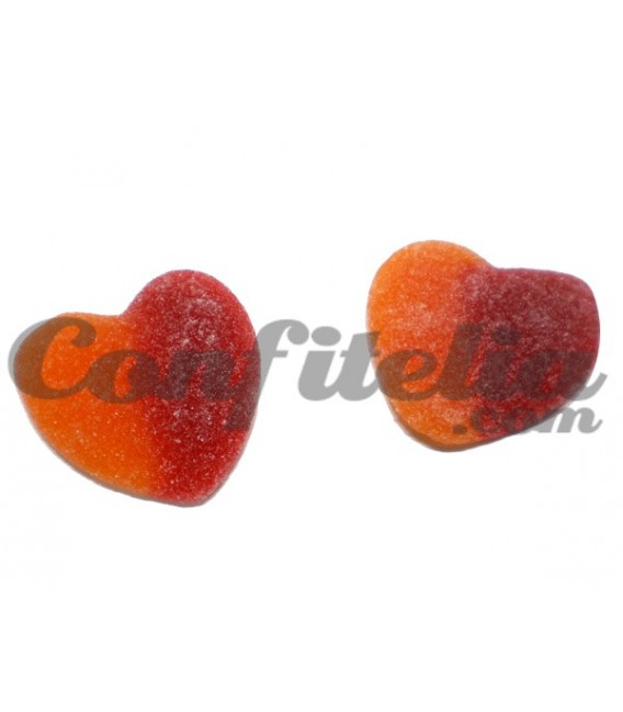 Giant sugared gummy peach Hearts Roypas