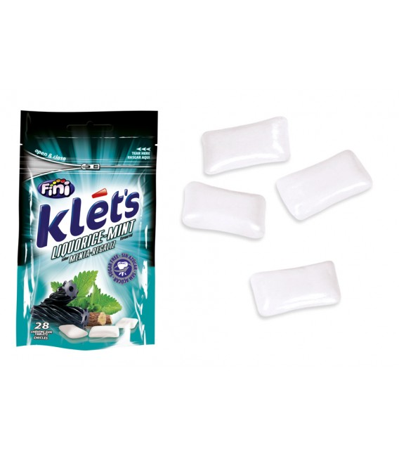 Chicle Klets regaliz 39 g