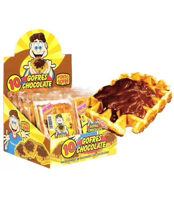 Punto Gofre Waffles with chocolate