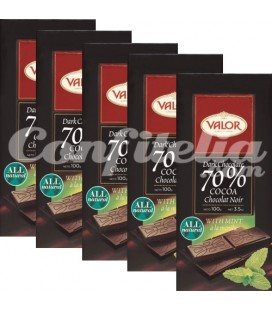 Chocolate Valor negro 70 y menta 100 grs.