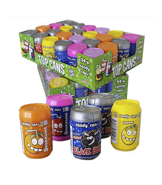 Compressed candy Top Cans