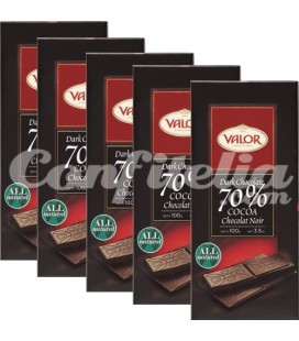 Tabletas de chocolate negro Valor 100 grs.