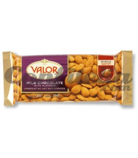 Valor milk chocolate with almonds 100 grs.