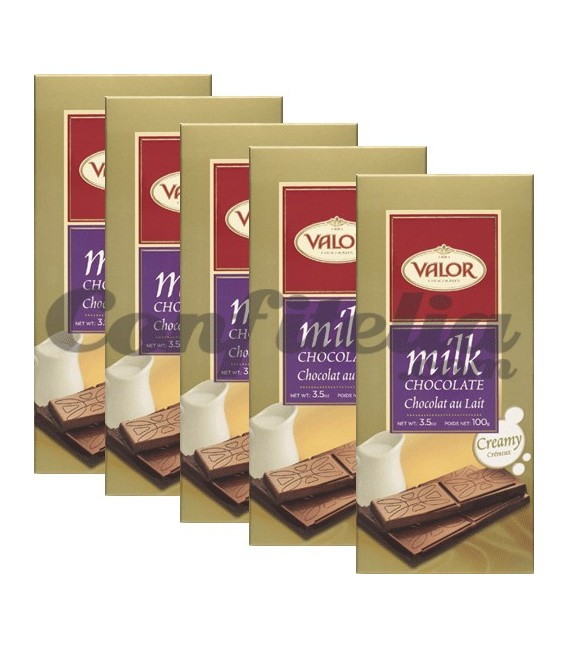 Tabletas de chocolate Valor 100 grs.