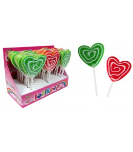 Bicolor Heart Lollipop 50 g