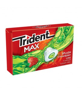 Trident Max Splash strawberry-lime