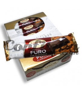 Pure chocolate with almonds Valor with no sugars added