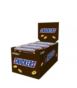 Barrita de chocolate Snickers 50 g