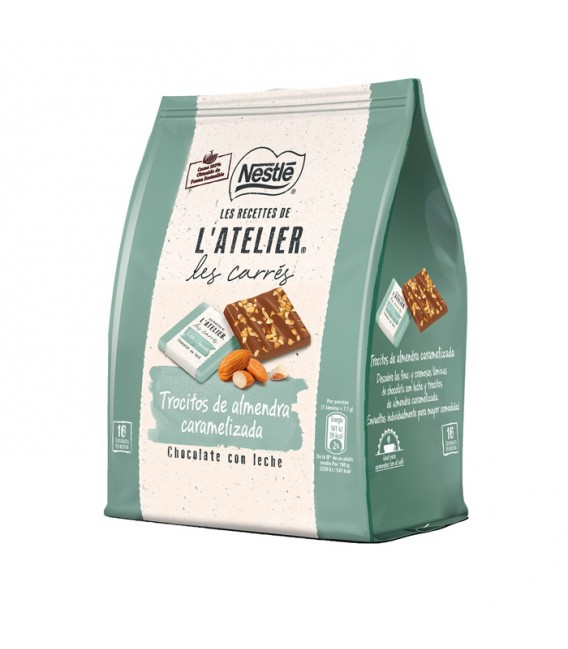 Cocoa and almonds carres L'Atelier