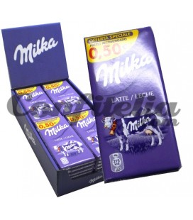 Tableta de chocolate con leche Milka